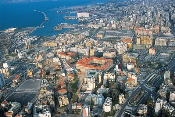 Port of Beirut and surrounding area, 2007. Photo by Yoniw via Wikimedia Commons
