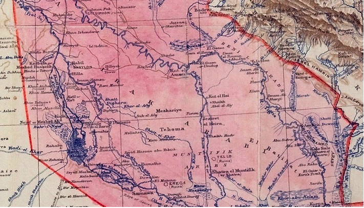 Jadaliyya - 'Lines Drawn on an Empty Map': Iraq's Borders
