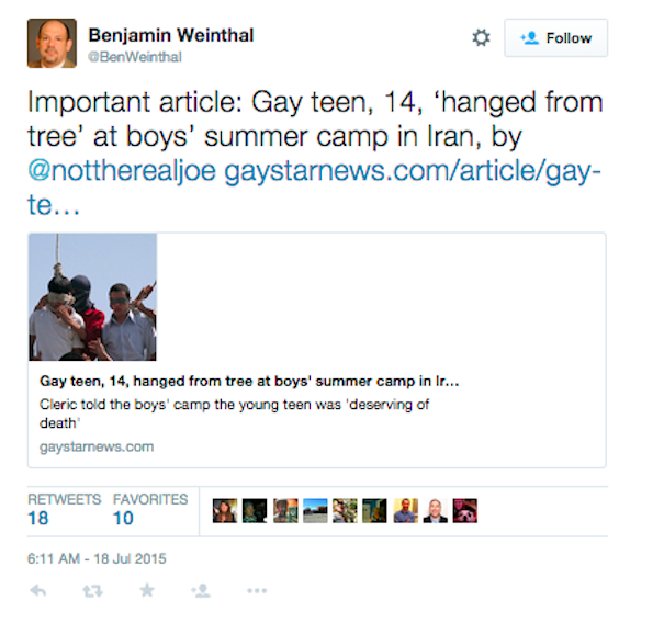Jadaliyya - Gay Hanging in Iran: Atrocities and Impersonations