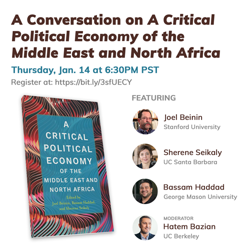 www.jadaliyya.com: A Conversation on A Critical Political Economy of the Middle East and North Africa (14 Jan)